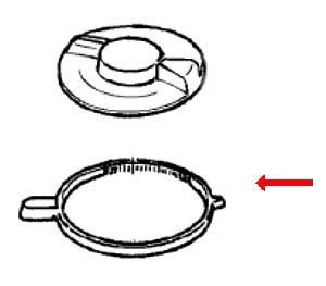 7002507 — Ручка (кольцо) электронной регулировки скорости двигателя  к кухонному комбайну Braun (Браун) - Для бытовой техники BrAun