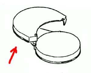 7000375 — Крышка контейнера для воды к кофеварке Braun - Для бытовой техники BrAun