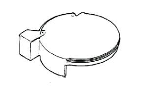 7000734 — Крышка кофеварки Braun - Для бытовой техники BrAun
